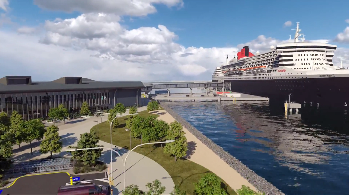 Brisbane's new cruise terminal almost ready for passengers