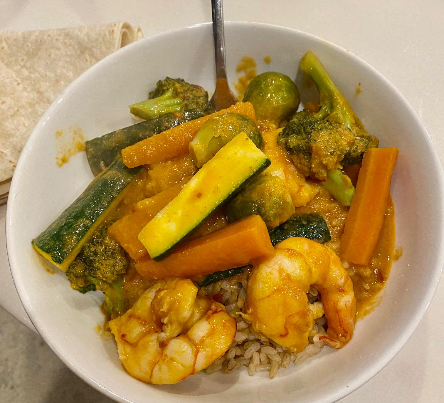 Breenie's Prawn Curry