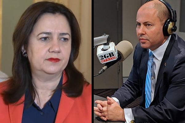 Frydenberg reignites war of words with Queensland government