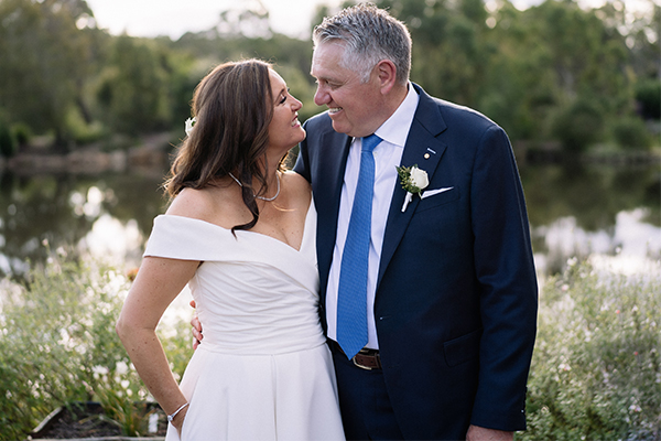 Newlyweds Ray and Sophie share 'sneak peak' of their special day