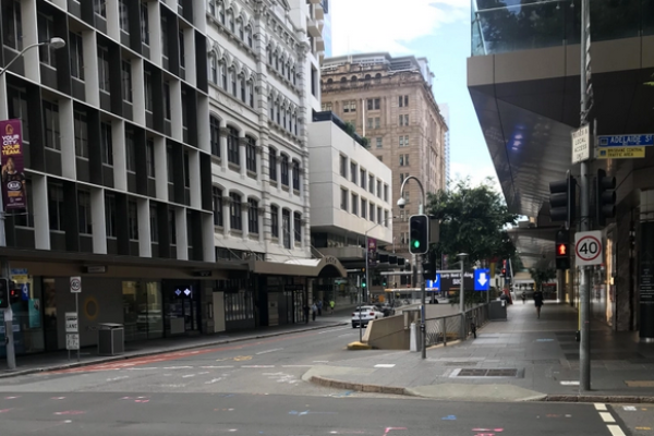 Article image for Brisbane streets virtually deserted as sun rises on city in lockdown