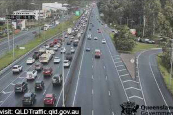 Big traffic delays as motorists flee the city for the long weekend