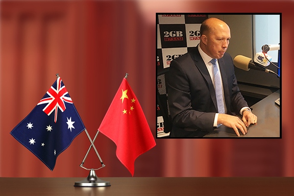 Peter Dutton says Australians are 'sick' of China's cyber activity
