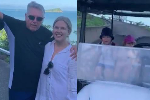 Article image for 'He saved our lives!': Ray Hadley 'rescues' Hamish Blake's kids