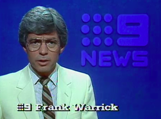 Article image for Tributes flow for legendary newsman Frank Warrick
