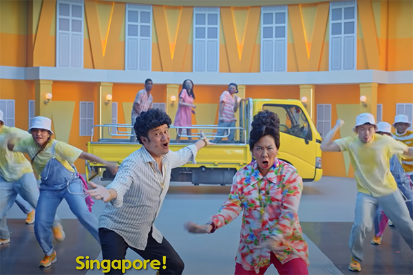 Article image for Singapore's new vaccination song casts shadow on Australian ads