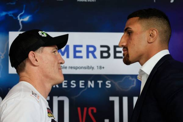 Article image for 'I am not overlooking him': Justis Huni 'hungry' ahead of Paul Gallen fight