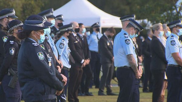 Article image for Queensland cop farewelled in moving funeral