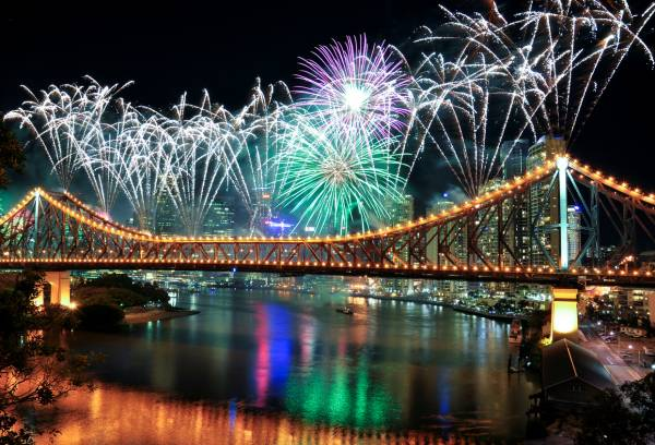 Article image for Go for gold, Brisbane: Celebrations, fireworks planned ahead of Olympics announcement