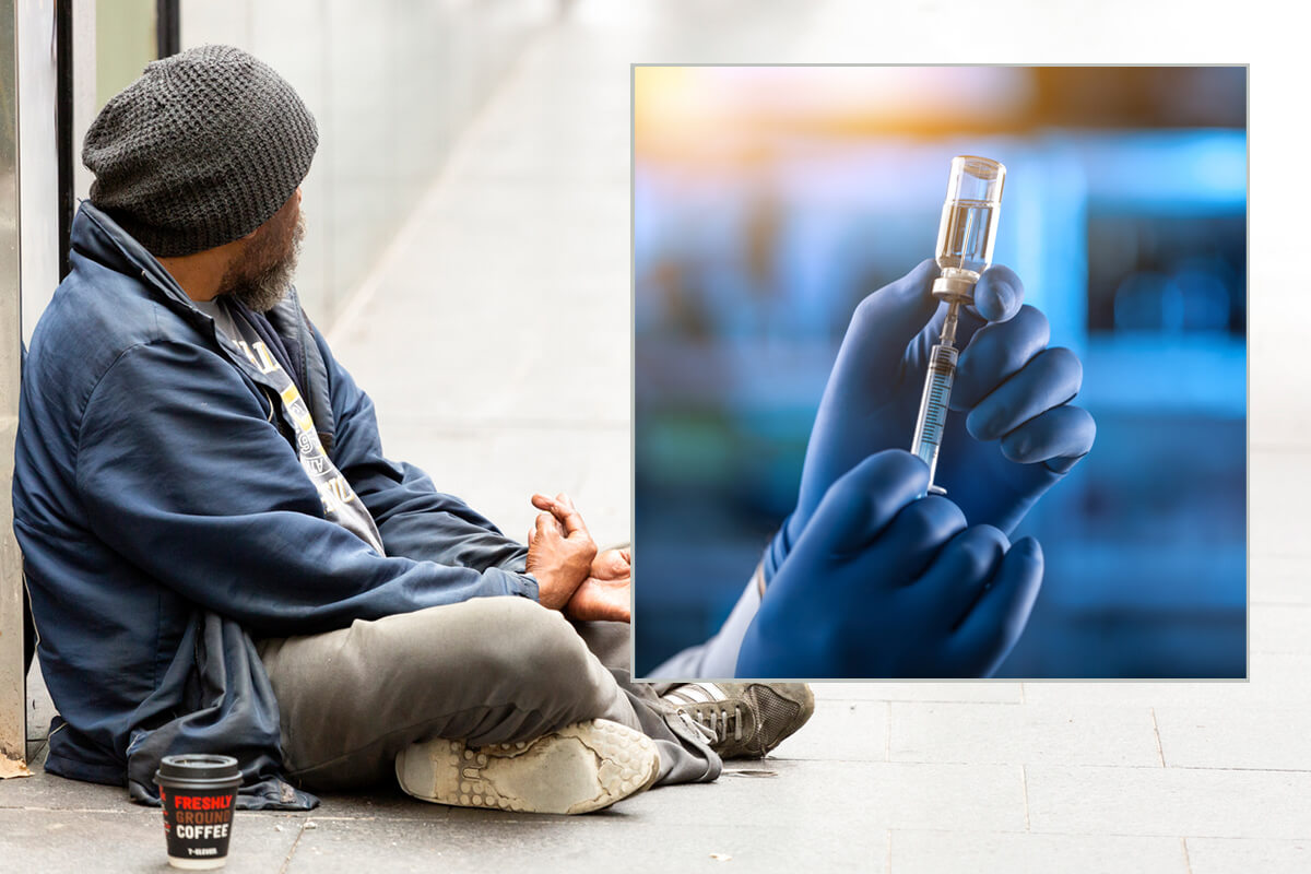Article image for Uni students lead drive to vaccinate hundreds of homeless