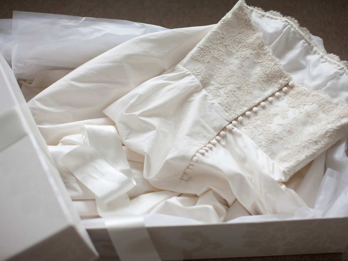 Article image for Astounding demand for wedding dress help transforms dry cleaning business