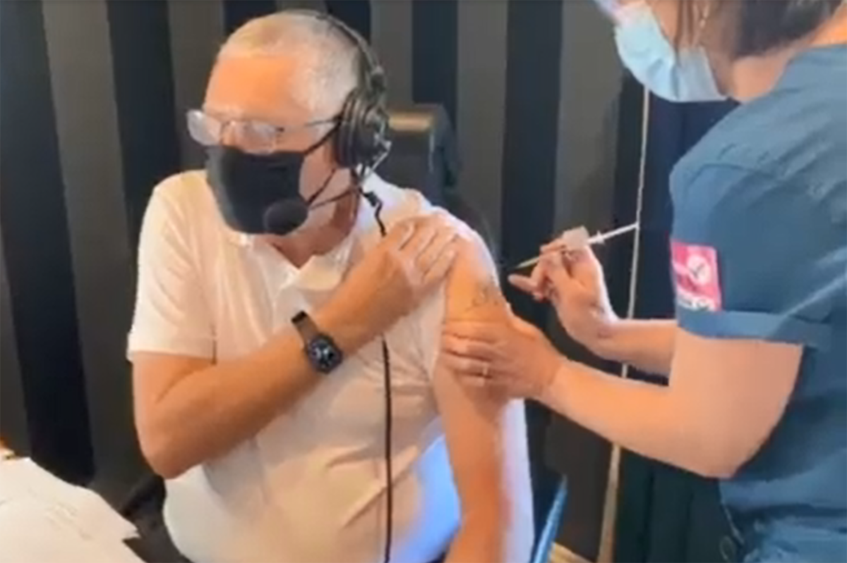 Article image for Ray Hadley becomes fully vaccinated on-air