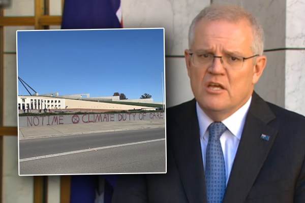 Prime Minister rebukes 'selfish' Extinction Rebellion vandals in climate report response