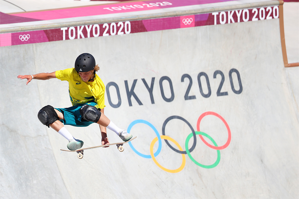 Article image for Olympian tipped 'underdog' who went on to win first gold for park skateboarding