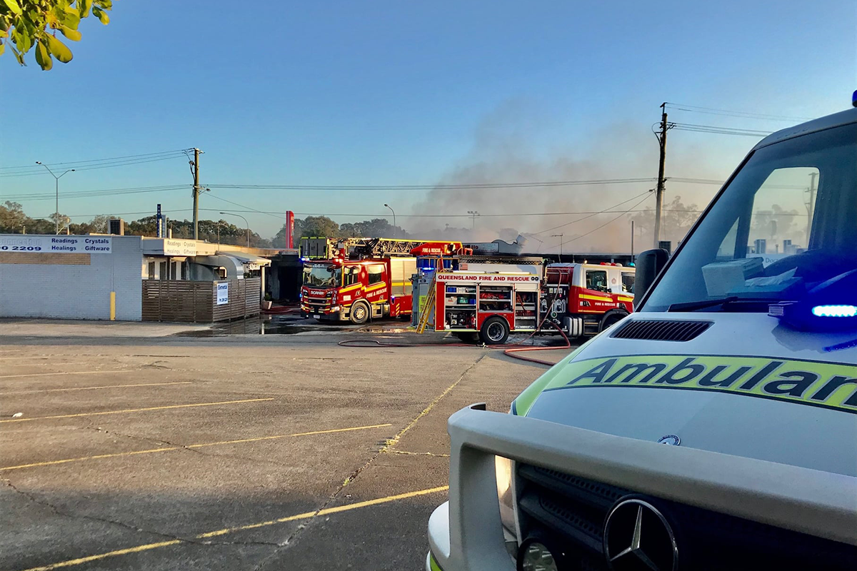 Article image for Buildings destroyed by vicious fire in Capalaba