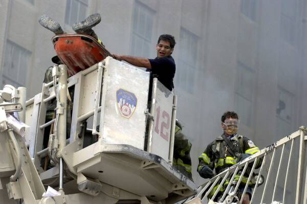 NAP...11/9/01...World Trade Centre in New york City attacked  by highjacked planes...pic Nathan Edwards