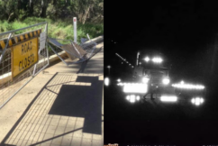 Truck driver charged after allegedly driving through COVID-19 blockade