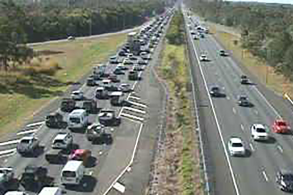 Article image for Bruce Highway comes to standstill following truck and motorcycle crash