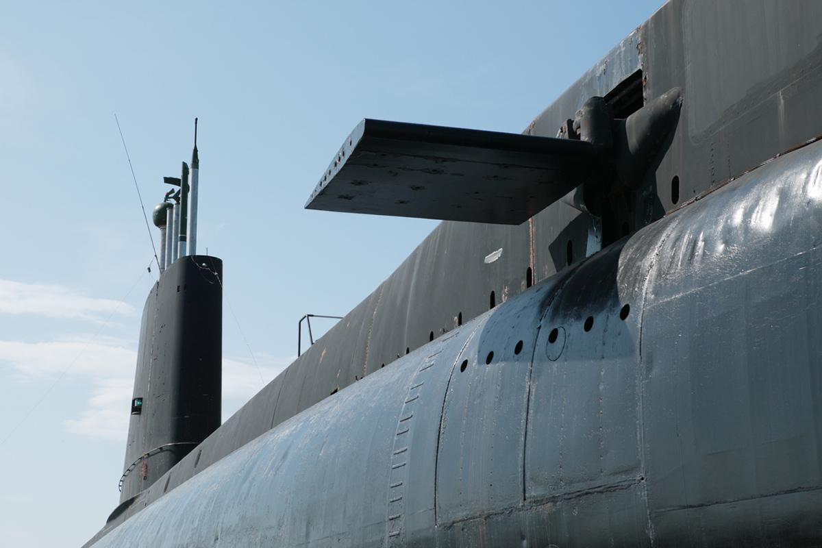 image istock submarine side against blue sky.