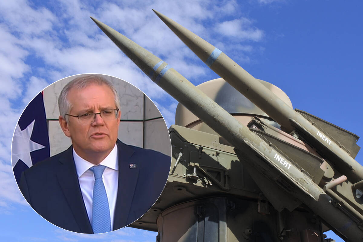 Article image for Australian defence expenditure 'will only increase', Prime Minister says