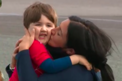 Three-year-old Memphis arrives home to a warm reception
