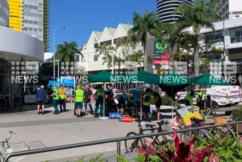 Paramedics treat numerous patients after car crashes into Gold Coast cafe