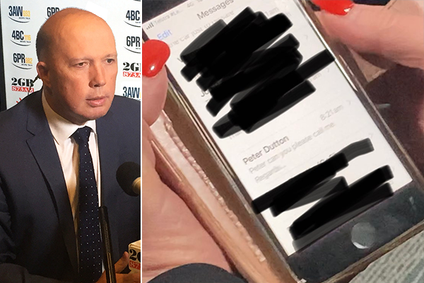 Article image for Peter Dutton addresses Qld Health Minister's stray text saga