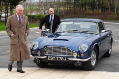 Prince of Wales reveals beloved Aston Martin powered by wine and cheese